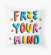 Hella' - retro 80's throwback vibes typography neon positivity  Throw Pillow