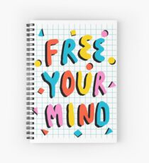 Hella' - retro 80's throwback vibes typography neon positivity  Spiral Notebook