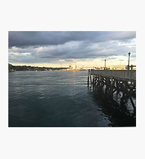 Sunset Dock at Prescott Park Photographic Print
