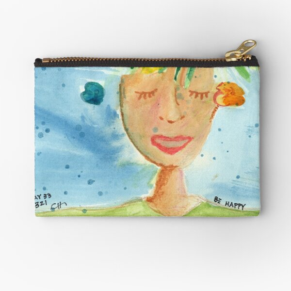 Project 321 - Be Happy Zipper Pouch