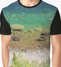 Stone shore on the lake Graphic T-Shirt