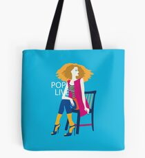 Stylish beautiful model for fashion design Tote Bag