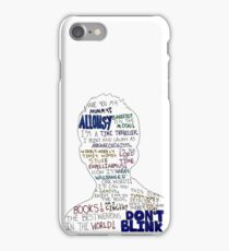 David Tenant Doctor Who - 10th Doctor Quotes Silhouette iPhone Case/Skin