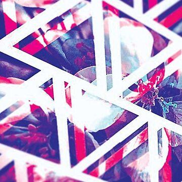 Geometric Flowers by CharDoesArt