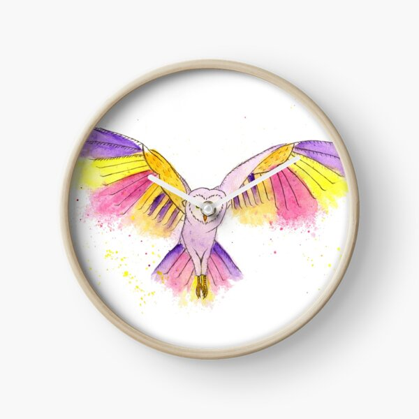 Number 10 in my series of strange birds is the Oogling Multi-Colored Owl Clock
