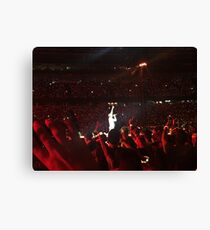 Concert- Coldplay- Chris Martin Canvas Print