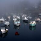 Boats in the Mist by Katherine Anderson