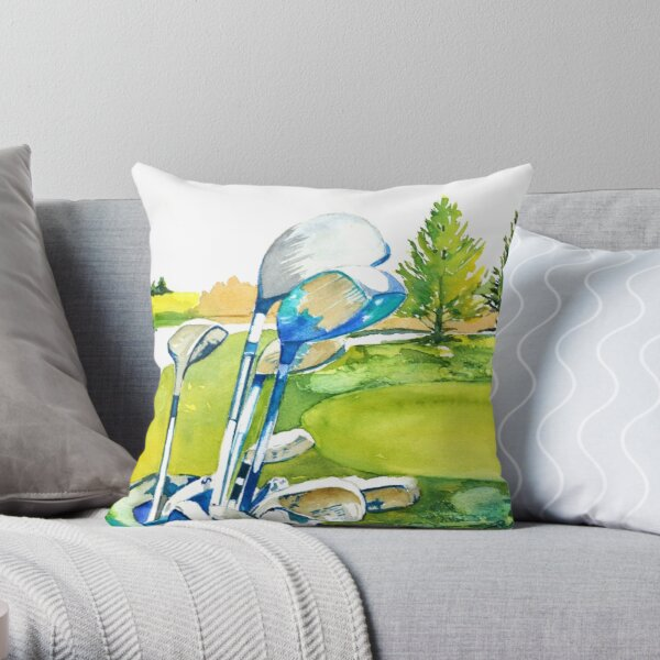 Golf series - Great anticipation Throw Pillow