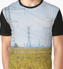 Landscape with power lines Graphic T-Shirt