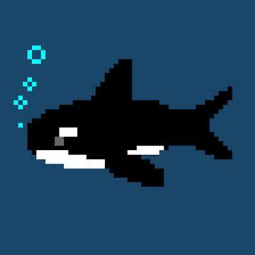 Pixel Orca by Redjiggs