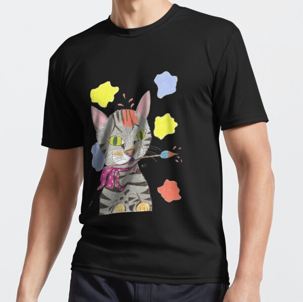 My Cat Portrait Active T-Shirt