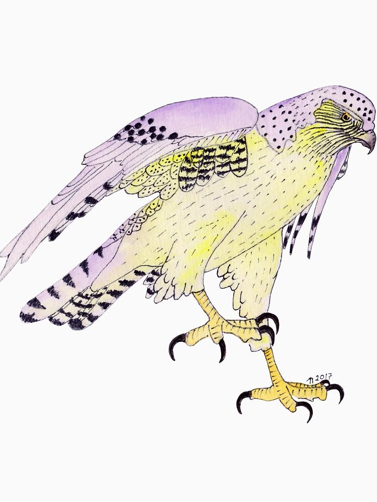 Hopping Dashed Hawk by lindaursin