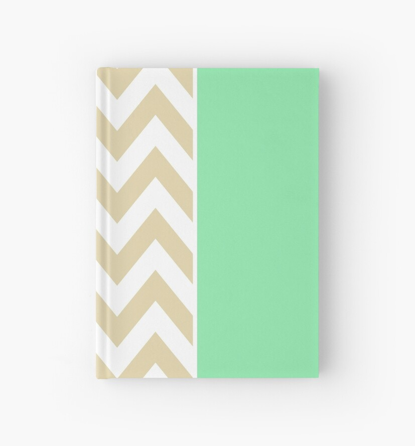 Beige Chevron Pattern by MyArt23