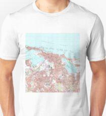Vintage Map of San Juan Puerto Rico (1969) T-Shirt