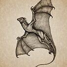 """""""Hurricane Wyvern"""" by artist Amber Marine ~ (Copyright 2016) ~ Ink & Graphite Dragon Art by Amber Marine ~ Wildlife Artist ~ © 2004-2019"""