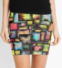 Psychedelic town Mini Skirt