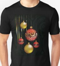 Red and Gold Christmas Balls T-Shirt