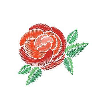 Amazing rose embroidery imitation by palomita222