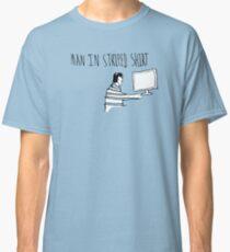 Man In Striped Shirt Classic T-Shirt