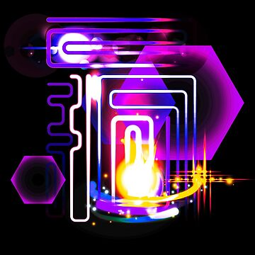 Abstract Neon Lights and Lens Flares Art by ddtk