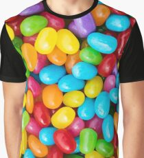 Candy: Colorful View Of Jelly Beans Graphic T-Shirt