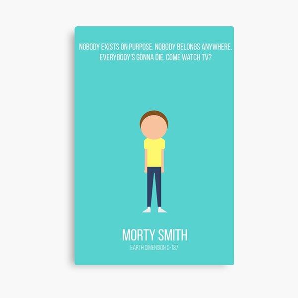 Minimalist Morty Smith Canvas Print