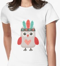 Hipster Owlet Mint Women's Fitted T-Shirt