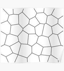 Geometric abstract - white and black. Poster