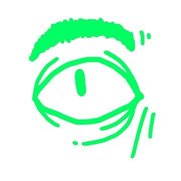 Green eye by keije