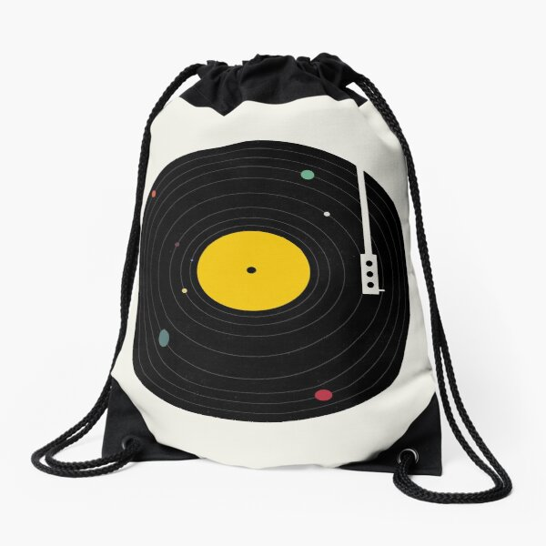Music Everywhere Drawstring Bag
