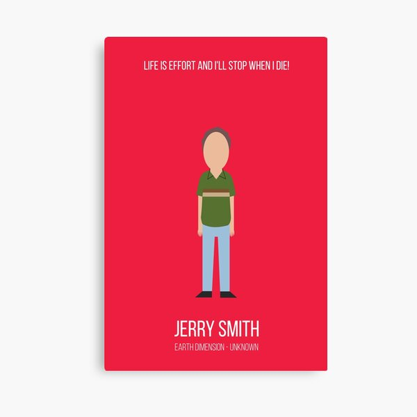 Minimalist Jerry Smith Canvas Print