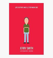 Minimalist Jerry Smith Photographic Print
