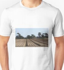 Tree Lined Straight Ploughed Field T-Shirt