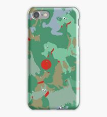 Funny dogs playing iPhone Case/Skin