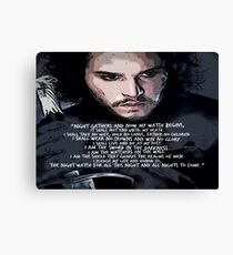 The Oath Of The Night Watch Canvas Print