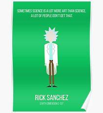 Minimalist Rick Sanchez Poster