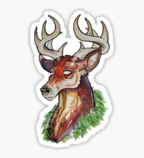 Christmas Stag Sticker