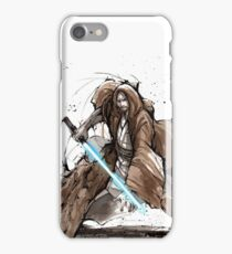 Jedi Knight from Star Wars with calligraphy iPhone Case/Skin