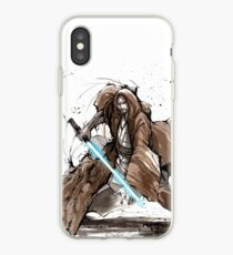 Jedi Knight from Star Wars with calligraphy iPhone Case