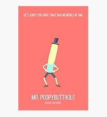 Minimalist Mr. Poopybutthole Photographic Print