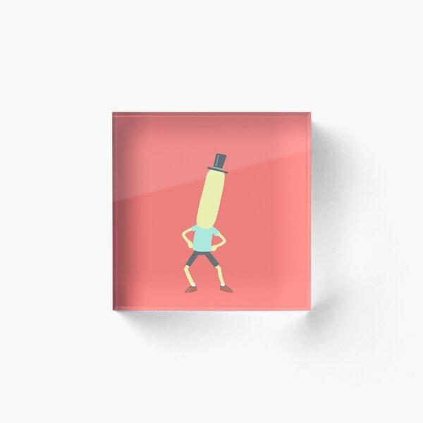 Minimalist Mr. Poopybutthole Acrylic Block
