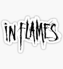 Band In Flames Logo Black Sticker