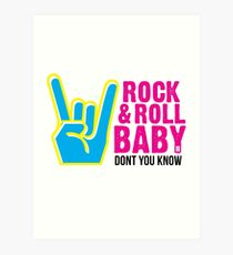 Paramore: Rock and Roll Baby, Dont You Know - BLK Art Print