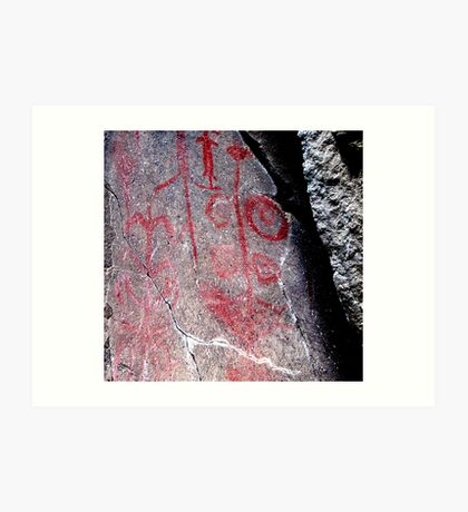 "Hemitite Pictographs from 10,000 B.C. in ""Picture Gorge"", Oregon Art Print"