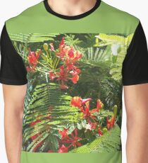 Floral Fire Graphic T-Shirt
