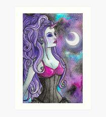 Unicorn Lady Art Print