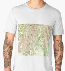 Vintage Map of Fort Worth Texas (1955) Men's Premium T-Shirt