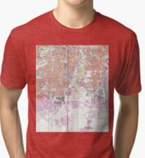 Vintage Map of Fort Worth Texas (1955) 2 Tri-blend T-Shirt