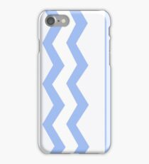 Abstract, geometric, zigzag, strips - blue. iPhone Case/Skin