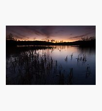 loch kinord sunset Photographic Print
